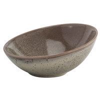 Oneida F1493015730 Terra Verde Natural 18.5 oz. Porcelain Slanted Bowl - 12/Case