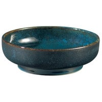 Oneida F1468994301 Studio Pottery Blue Moss 14 oz. Porcelain Footed Bowl / Ramekin - 24/Case