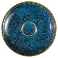 Oneida F1468994505 Studio Pottery Blue Moss 4 7/8 inch Porcelain Espresso Saucer - 24/Case