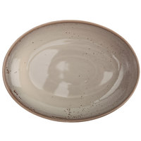 Oneida F1493015789 Terra Verde Natural 52 oz. Porcelain Oval Bowl - 12/Case