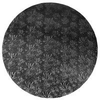 Enjay 1/2-16RB12 16 inch Fold-Under 1/2 inch Thick Black Round Cake Drum