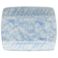 Oneida F1463060115S Studio Pottery Cloud 5 1/2 inch Square Porcelain Sushi Plate - 36/Case