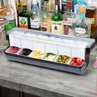 Tablecraft BCD6000 FIFO 6 Compartment Condiment Station