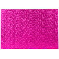 Enjay 1/2-17122512PINK12 27 1/4 inch x 18 inch Fold-Under 1/2 inch Thick Full Pink Cake Board