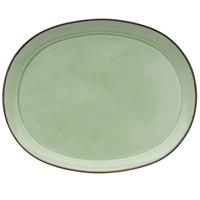 Oneida F1463067363 Studio Pottery Celadon 12 inch Porcelain Oval Platter - 12/Case