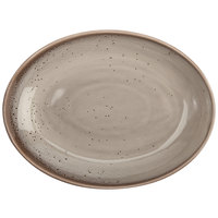 Oneida F1493015788 Terra Verde Natural 35 oz. Porcelain Oval Bowl - 12/Case