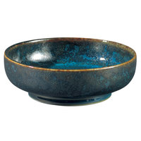 Oneida F1468994293 Studio Pottery Blue Moss 9 oz. Porcelain Footed Bowl / Ramekin - 24/Case