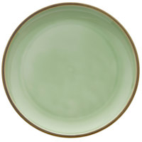 Oneida F1463067151 Studio Pottery Celadon 10 5/8 inch Porcelain Round Plate - 12/Case
