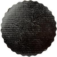 Enjay SW-9RSBEMB 9 inch Black Laminated Corrugated Cake Circle - 25/Pack
