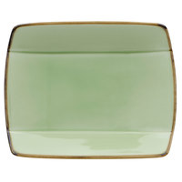 Oneida F1463067115S Studio Pottery Celadon 5 1/2 inch Square Porcelain Sushi Plate - 36/Case