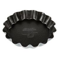 Matfer Bourgeat 332651 Exopan Steel 2 1/4 inch Fluted Non-Stick Tart / Quiche Pan - 25/Pack
