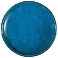 Oneida F1468994132 Studio Pottery Blue Moss 8 1/2 inch Porcelain Round Plate - 24/Case