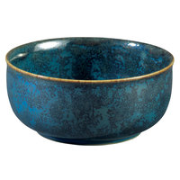 Oneida F1468994701 Studio Pottery Blue Moss 15.25 oz. Porcelain Cereal Bowl - 24/Case