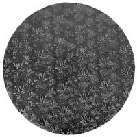 Enjay 1/2-18RB12 18 inch Fold-Under 1/2 inch Thick Black Round Cake Drum