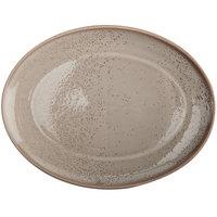 Oneida F1493015355 Terra Verde Natural 11 inch Porcelain Coupe Oval Platter - 12/Case