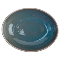 Oneida F1493020787 Terra Verde Dusk 29.5 oz. Porcelain Oval Bowl - 24/Case