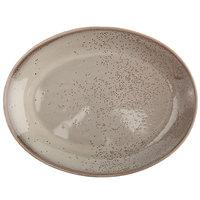 Oneida F1493015370 Terra Verde Natural 13 inch Porcelain Coupe Oval Platter - 12/Case