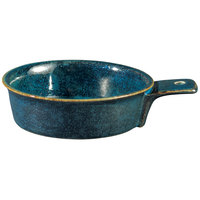 Oneida F1468994108 Studio Pottery Blue Moss 12 oz. Porcelain Single-Handled Tapas Dish - 24/Case