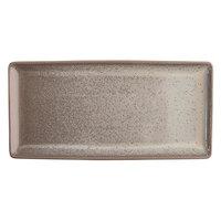 Oneida F1493015412 Terra Verde Natural 13 inch x 6 1/4 inch Porcelain Rectangular Appetizer Tray - 12/Case