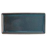 Oneida F1493020412 Terra Verde Dusk 13 inch x 6 1/4 inch Porcelain Rectangular Appetizer Tray - 12/Case