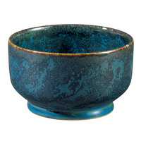 Oneida F1468994285 Studio Pottery Blue Moss 8 oz. Porcelain Footed Bowl / Ramekin - 24/Case