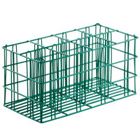 8 Compartment Catering Flatware Rack with Flatware Cylinders 19 3/4 inch x 10 1/2 inch x 9 5/8 inch