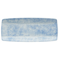 Oneida F1463060760 Studio Pottery Cloud 10 1/2 inch x 4 5/8 inch Porcelain Narrow Sushi Plate - 24/Case