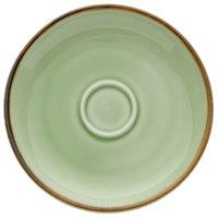 Oneida F1463067505 Studio Pottery Celadon 4 7/8 inch Porcelain Espresso Saucer - 24/Case
