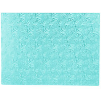 Enjay 1/2-13341834BLUE12 18 3/4 inch x 13 3/4 inch Fold-Under 1/2 inch Thick 1/2 Sheet Blue Cake Board