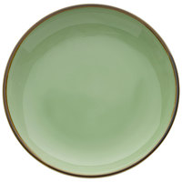 Oneida F1463067282 Studio Pottery Celadon 10 5/8 inch Porcelain Round Deep Plate - 12/Case