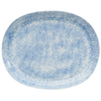 Oneida F1463060355 Studio Pottery Cloud 10 1/4 inch Porcelain Oval Platter - 12/Case
