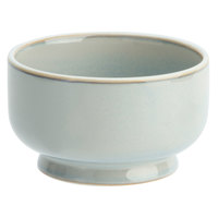 Oneida F1463051285 Studio Pottery Stratus 8 oz. Porcelain Footed Bowl / Ramekin - 24/Case