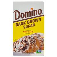 Domino Dark Brown Sugar 1 lb. Box   - 24/Case