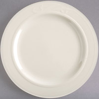 Homer Laughlin HL6071000 9 inch Ivory (American White) China Plate - 24/Case