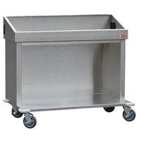 Steril-Sil E1-CRT48-4V Stainless Steel Silverware Open Base Dispensing Cart for Four E1 Inserts