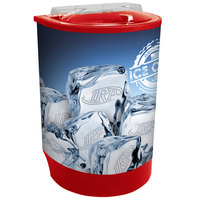 IRP Red Iceberg 500 60 Qt. Insulated Portable Beverage Cooler / Merchandiser with Lid, Drain, and Semicircular Design
