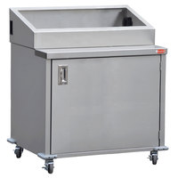 Steril-Sil ENC36-5TP 36 inch Enclosed Base Stainless Steel Mobile Condiment Counter