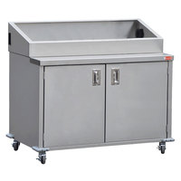 Steril-Sil ENC48-2HP 48 inch Enclosed Base Stainless Steel Mobile Condiment Counter