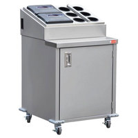 Steril-Sil E1-ENC36-3V Stainless Steel 3 Insert Silverware Dispensing Cart with Closed Base