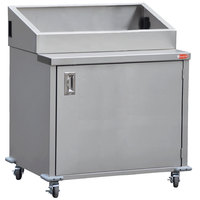 Steril-Sil E1-ENC36-3V Stainless Steel 3 Insert Silverware Dispensing Cart with Closed Base