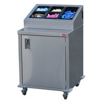 Steril-Sil ENC24-1HP 24 inch Enclosed Base Stainless Steel Mobile Condiment Counter