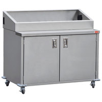 Steril-Sil E1-ENC48-4V Stainless Steel 4 Insert Silverware Dispensing Cart with Closed Base