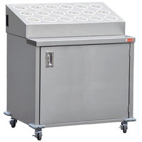 Steril-Sil ENC36-18RP-WHITE Stainless Steel Silverware Cart with 18 White Silverware Cylinders
