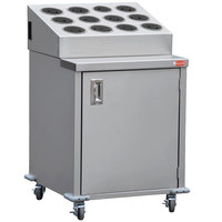 Steril-Sil ENC24-12SS Stainless Steel Silverware Cart with 12 Stainless Steel Silverware Cylinders