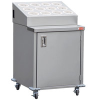 Steril-Sil ENC24-12RP-WHITE Stainless Steel Silverware Cart with 12 White Silverware Cylinders