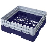 Cambro BR578186 Navy Blue Camrack Full Size Open Base Rack with 2 Extenders