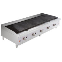 Cooking Performance Group CBL60-NG(CPG) 60 inch Gas Lava Briquette Charbroiler - 200,000 BTU