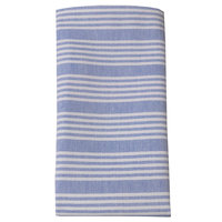 Snap Drape 54351822NH763 Chambray 18 inch x 22 inch Ticking Blue Cloth Napkin - 12/Pack