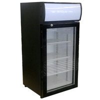 Beverage-Air CTR3-1-B-LED Black Countertop Display Refrigerator with Swing Door - 3 cu. ft.