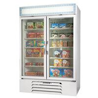 Beverage Air MMF49-1-W White Marketmax 2 Glass Door Merchandising Freezer with Swing Doors - 49 Cu. Ft.